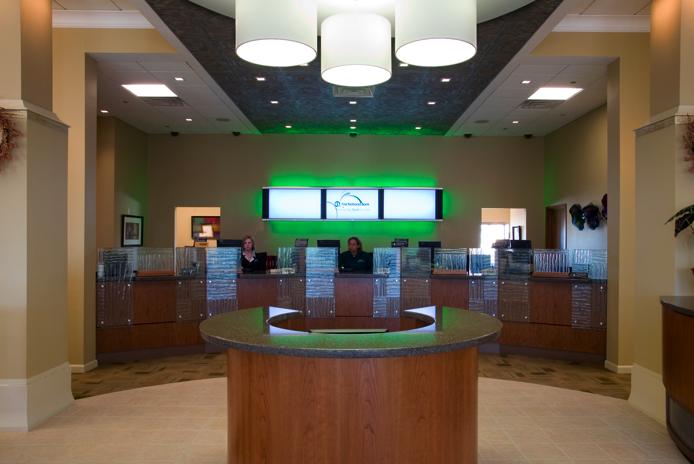 Omaha Bank S New Branch Concept Includes Virtual Koi Pond