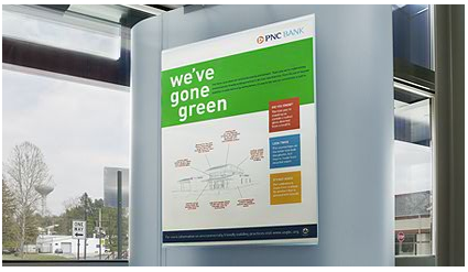 PNC 'green' sign
