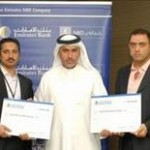 The two lucky winners of Emirates NBD's promotion were Mr. Ashraf Saleh Ahmed Salameh, Jordanian National and Pakistani National, Mr. Adnan Shah Faiz Muhammad Shah.