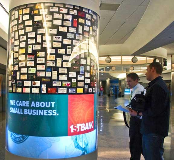 1st-bank-airport-display-onlookers
