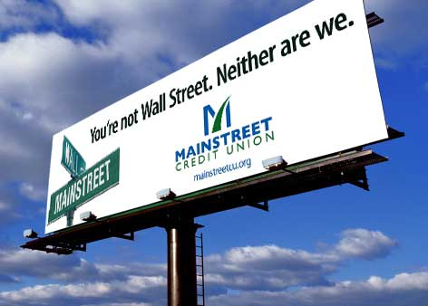 mainstreet-credit-union-billboard