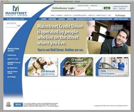 mainstreet-credit-union-website