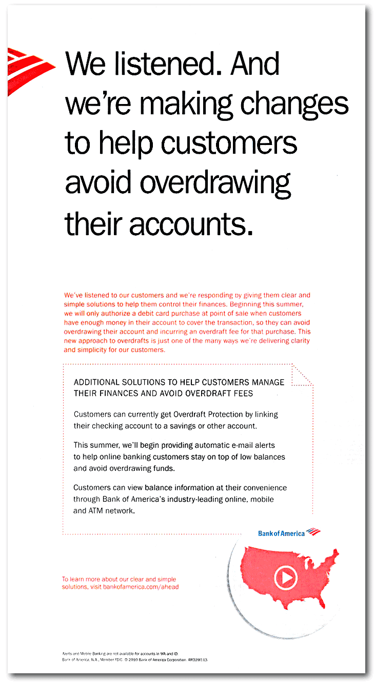 how to avoid overdraft fees bank of america