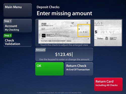 can you deposit money at wells fargo atms