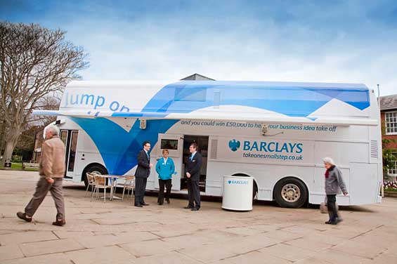 Barclays Takes Branded 'Innovation Bus' on Tour