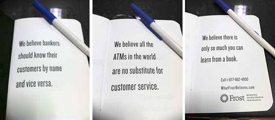 Frost Bank S Mini Manifesto Makes Big Bold Promises