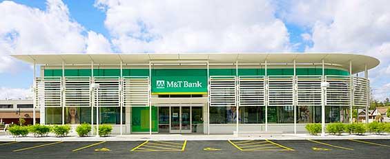 Branch showcase m t green bnz 39 s concept store td 39 s for Modern bank building design