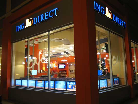 Free tour of all 11 ing direct caf s in north america for Oficinas ing en barcelona