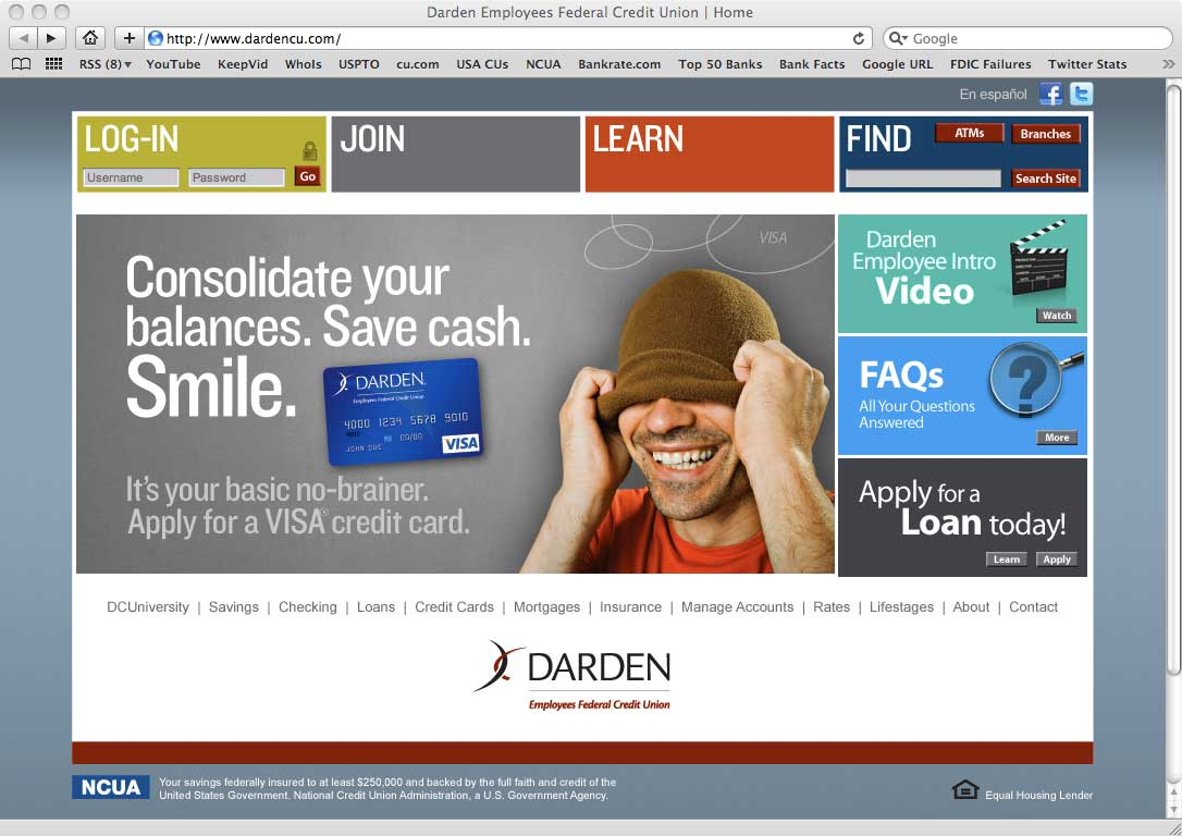 New visual trends in retail banking websites Website home image