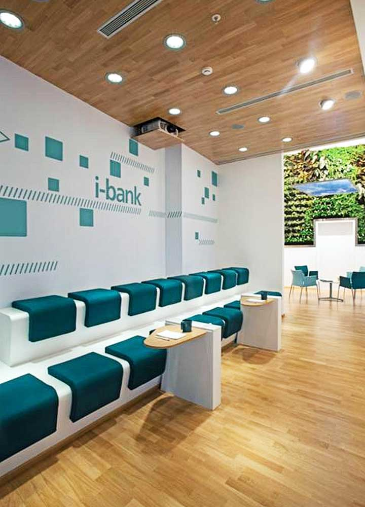 Bank pushes alternative channels with ultra sleek ibank store for International interior decor