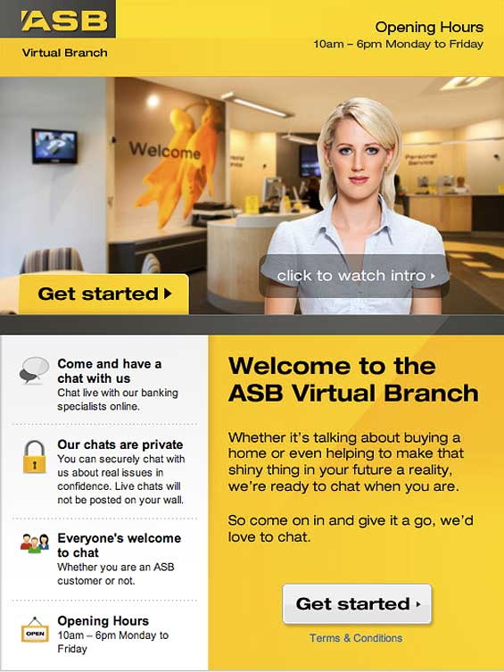 Customers Chat One-to-One in Bank's Virtual Facebook Branch