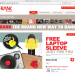 FRANK by OCBC Microsite Homepage Design