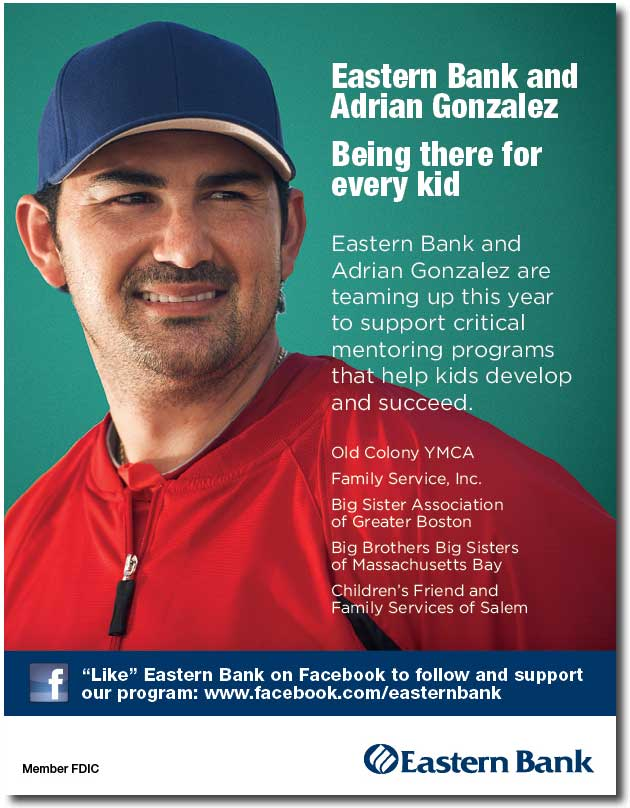 Eastern Bank Launches 'Mentoring Wins' Sweepstakes With Adrian Gonzalez