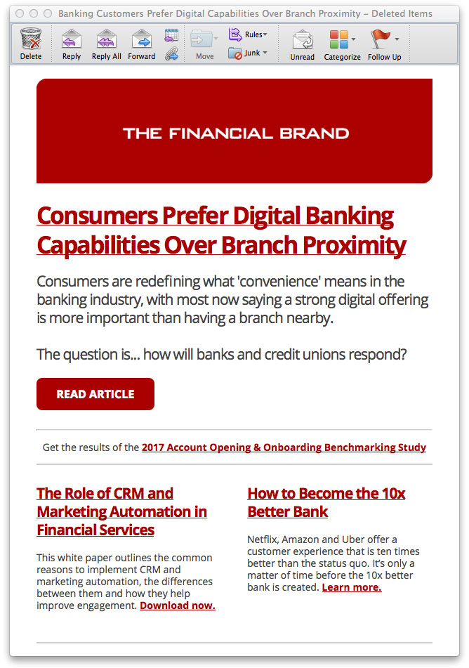 Subscribe for Free via Email - The Financial Brand