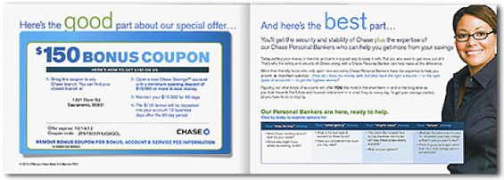Chase bank savings account coupon