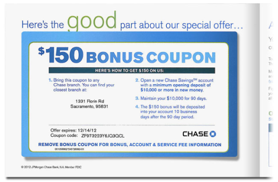 4cc40892a6 Direct Marketing Clinic  Chase Mailer Pros   Cons