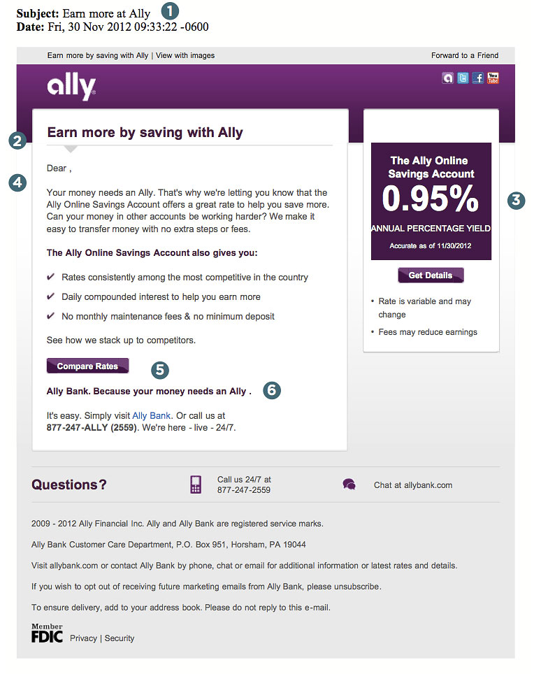Direct Marketing Clinic: Ally Bank's Email Techniques