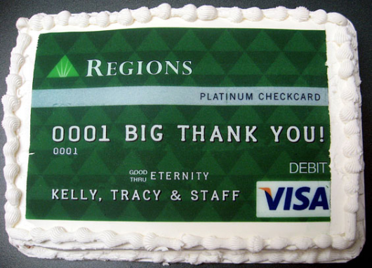 Bank Retirement Cake