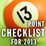 13-Point Financial Marketing Checklist For 2013
