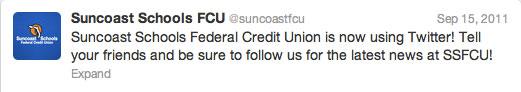 suncoast_schools_fcu_first_tweet