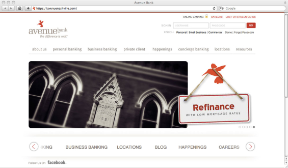 avenue_bank_website
