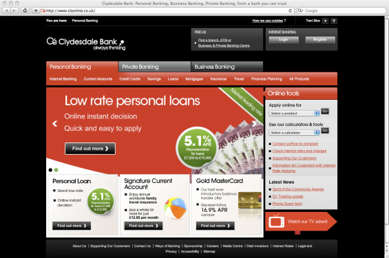 clydesdale_bank_website