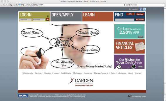 darden_credit_union_website