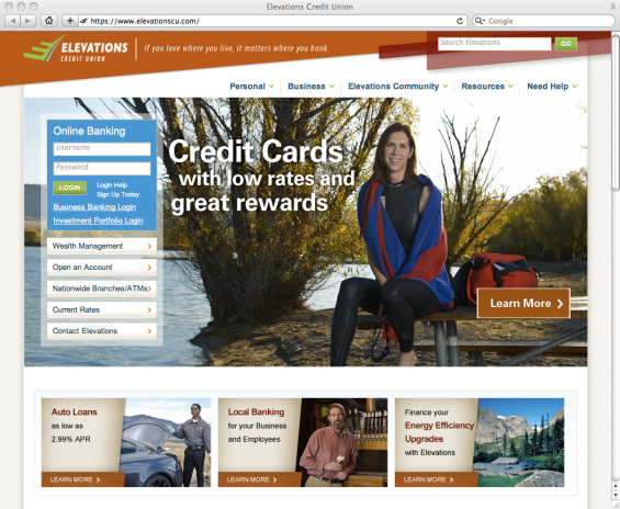elevations_credit_union_website