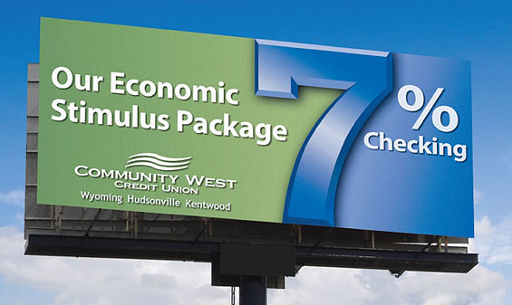 community_west_credit_union_checking_billboard