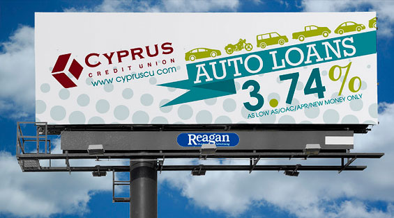 cyprus_credit_union_auto_loan_billboard