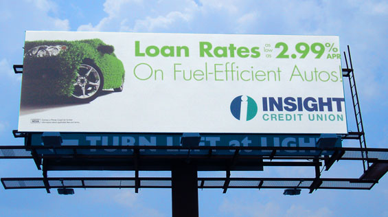 insight_credit_union_auto_loan_billboard
