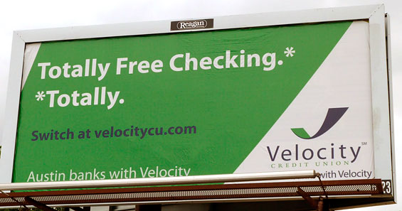 velocity_credit_union_checking_billboard