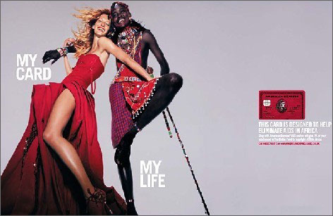 the previously unknown Maasai herdsman who appeared with Brazilian supermodel Gisele Bundchen in this ad for American Express. Read more here.