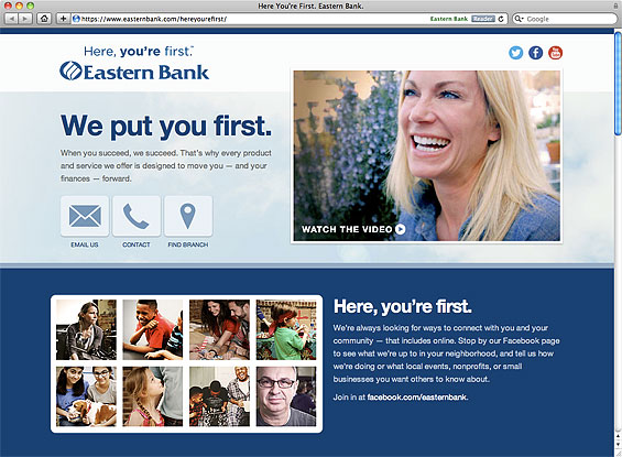Ad Campaign From Eastern Bank Puts You First