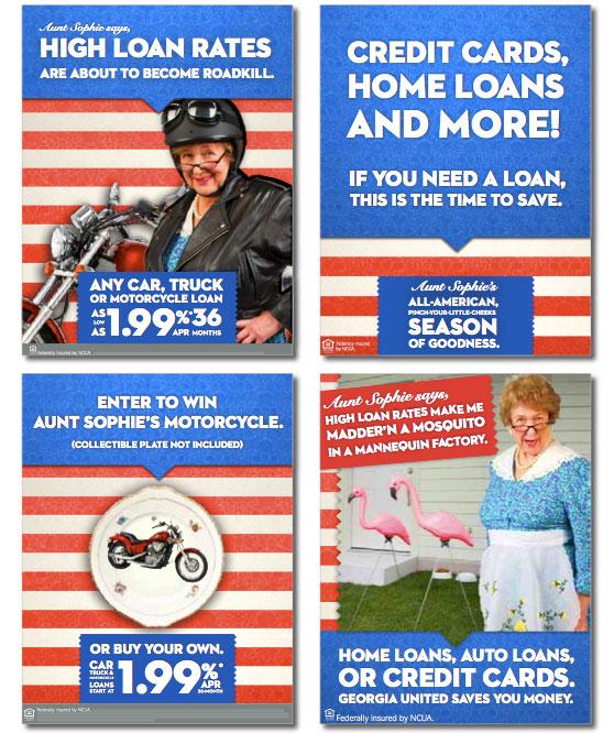 georgia_united_credit_union_aunt_sophie_auto_loan_promotion