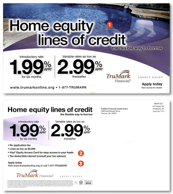 Direct mail clinic designing home loan postcards that get - Swimming pool loans interest rates ...