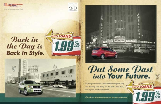 first_entertainment_credit_union_auto_loan_print_ads