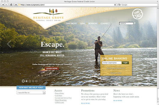 heritage_grove_federal_credit_union_website