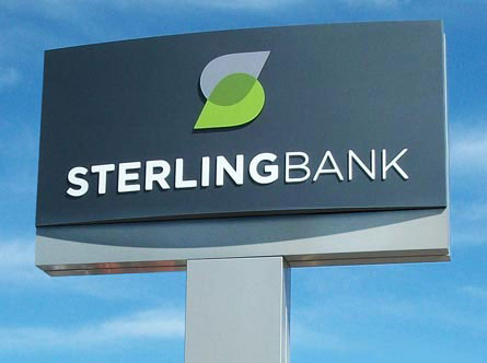 9 beautiful integrated brand identities from retail banks sterlingbankbranchsign altavistaventures Gallery
