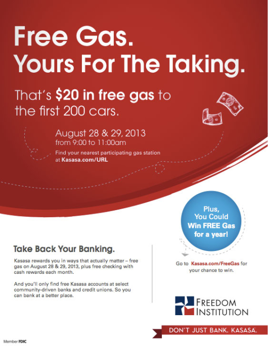 kasasa_checking_account_gas_giveaway_flyer