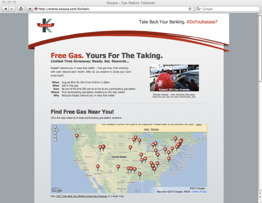 kasasa_checking_account_gas_giveaway_website