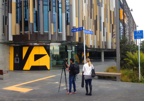 Photographers from Property 3D begin shooting at ASB North Wharf.