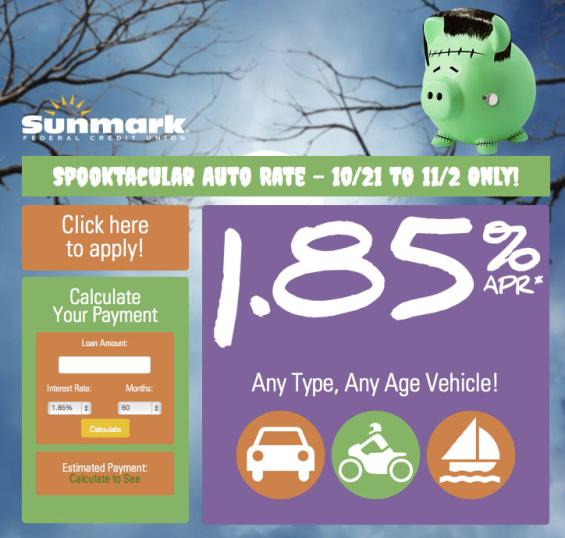 sunmark_fcu_spooktacular_halloween_auto_loan_sale
