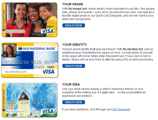 how to tell which debit card goes to which account