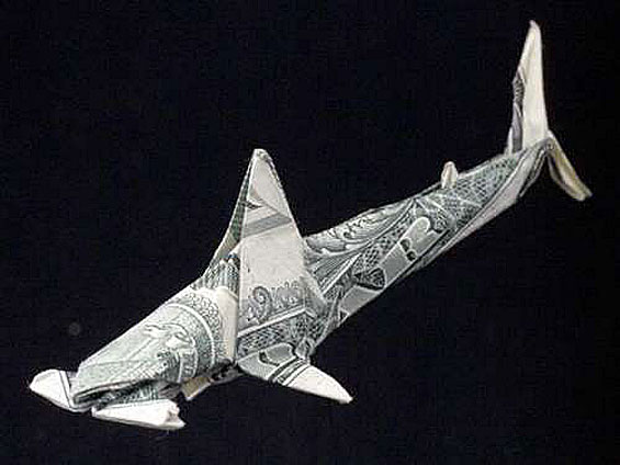 Origami Hammerhead Shark 1000+ images about pap...