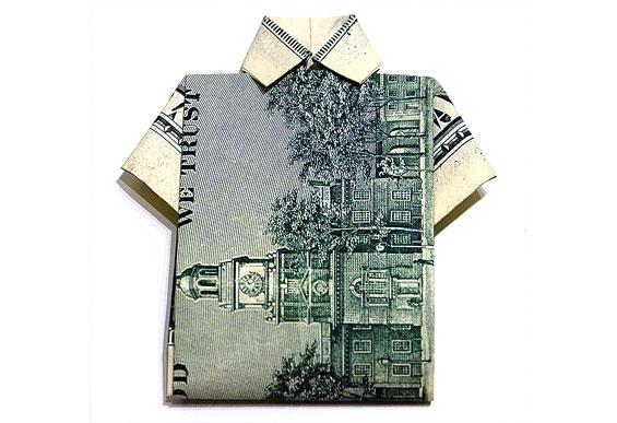 Dollar Origami Dress | Ilan Garibi | Flickr | 387x565