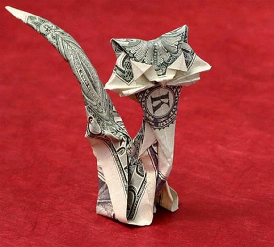 origami_money_red_cat