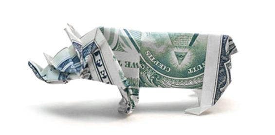 origami_money_rhinoceros