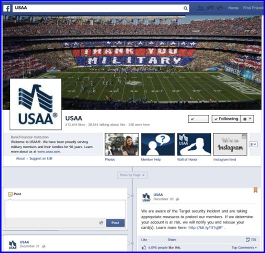 USAA Facebook Dec 20