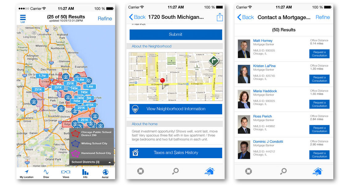 Chase Bank My New Home App